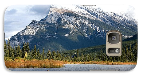 Galaxy Case featuring the photograph Mt Rundle Banff National Park by Bob and Nancy Kendrick