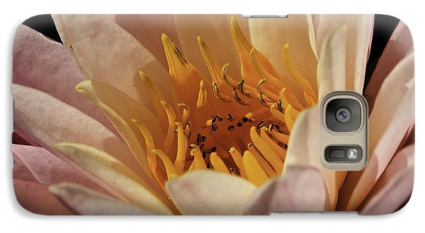 Galaxy Case featuring the photograph Nymphaea 'sunny Pink' by Perla Copernik