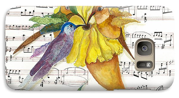 Galaxy Case featuring the mixed media 2 Of 2 - Natures Symphony-in Three-part Harmony by Joy Braverman