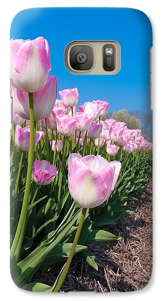 Galaxy Case featuring the photograph Pink Tulips by Hans Engbers