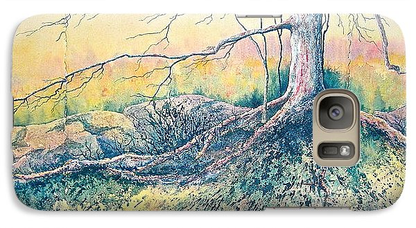 Galaxy Case featuring the painting Rooted In Time by Carolyn Rosenberger