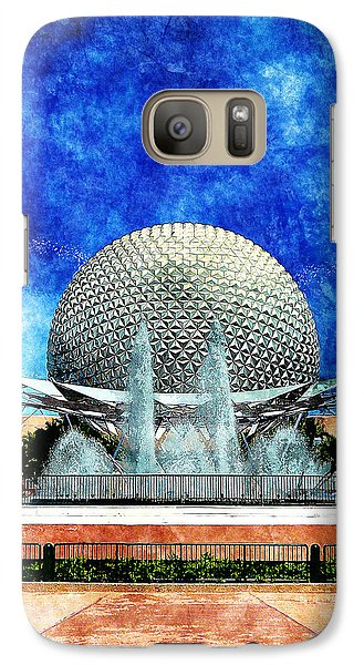 Galaxy Case featuring the digital art Spaceship Earth And Fountain Of Nations by Sandy MacGowan
