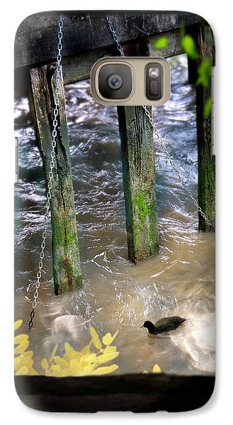 Galaxy Case featuring the photograph Thames Coot by Richard Piper