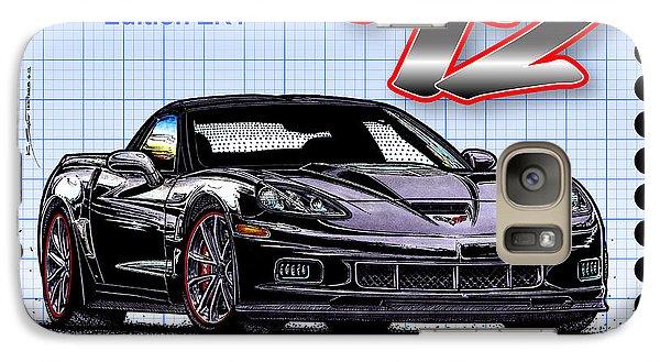 Galaxy Case featuring the drawing 2012 Centennial Edition Zr1 Corvette by K Scott Teeters