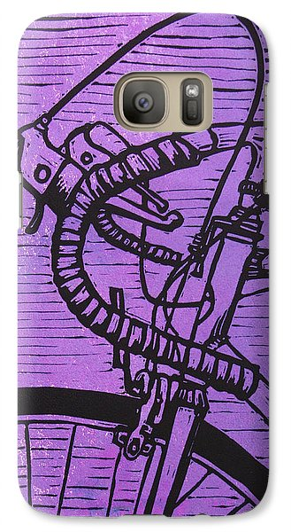 Galaxy Case featuring the drawing Bike 2 by William Cauthern