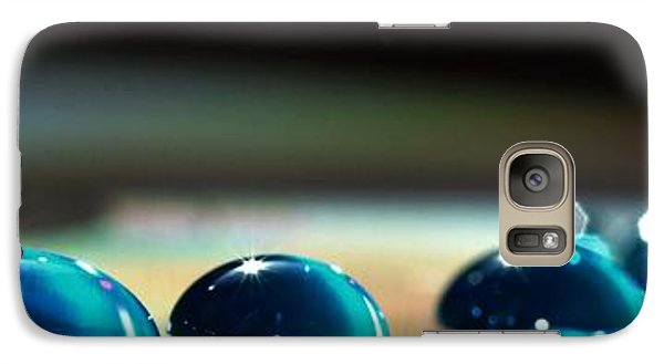 Galaxy Case featuring the photograph Blue Drops by Sylvie Leandre