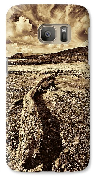 Galaxy Case featuring the photograph Driftwood by Steve Purnell
