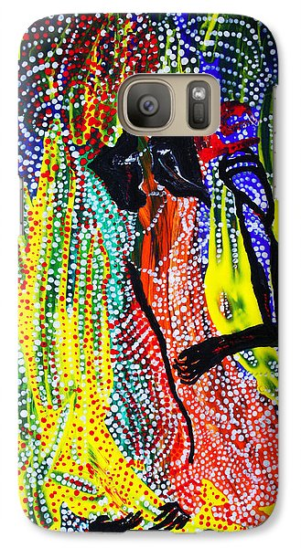 Galaxy Case featuring the painting Jesus And Mary by Gloria Ssali