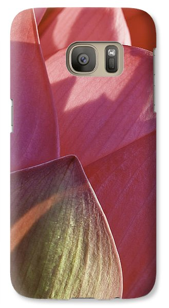 Galaxy Case featuring the photograph Nelumbo 'mrs. Perry Slocum' by Perla Copernik