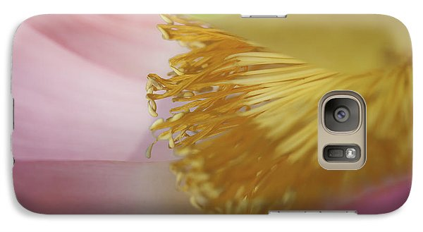 Galaxy Case featuring the photograph Nelumbo 'red Scarf' by Perla Copernik