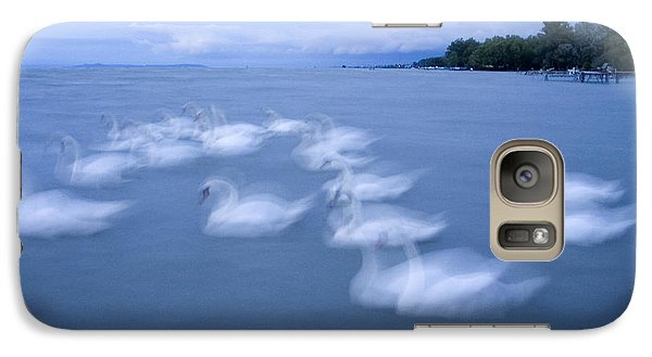 Galaxy Case featuring the photograph Dance Of Swans by Odon Czintos