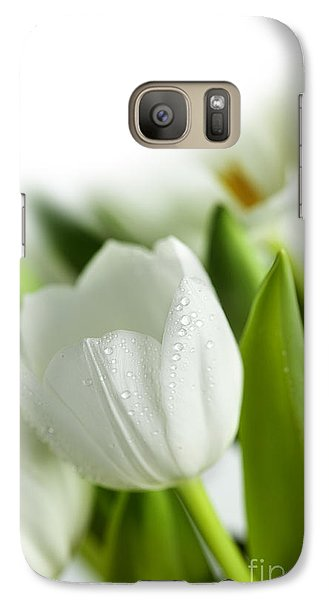 White Tulips Galaxy S7 Case by Nailia Schwarz