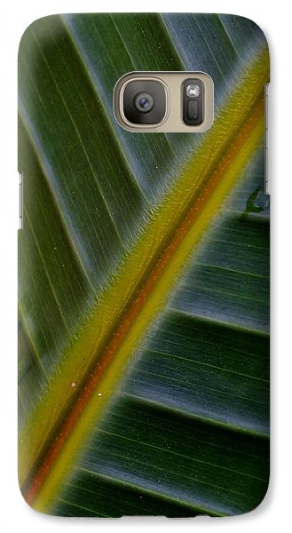 Galaxy Case featuring the photograph Wild Banana Leaf by Werner Lehmann