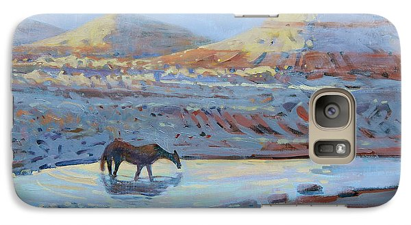 Galaxy Case featuring the painting Water Hole by Donald Maier