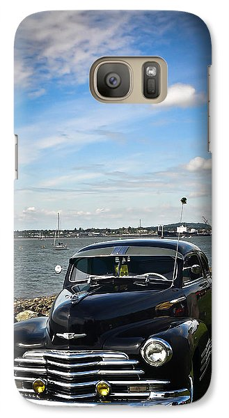 Galaxy Case featuring the photograph '47 Chevy By The Bay by Ronda Broatch