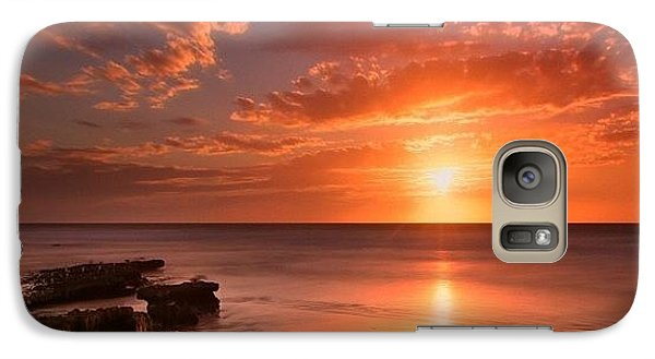 Galaxy S7 Case - Long Exposure Sunset At A North San by Larry Marshall
