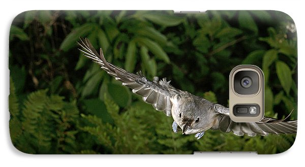 Tufted Titmouse In Flight Galaxy S7 Case