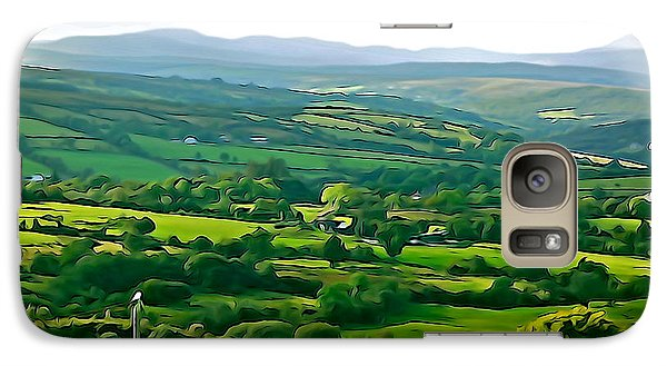 Galaxy Case featuring the photograph 50 Shades Of Green by Charlie and Norma Brock
