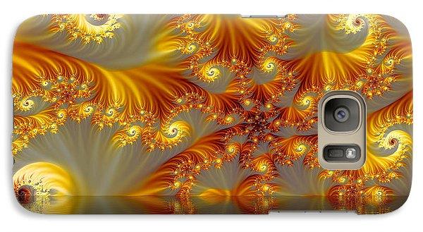 Galaxy Case featuring the digital art  Fractal by Odon Czintos