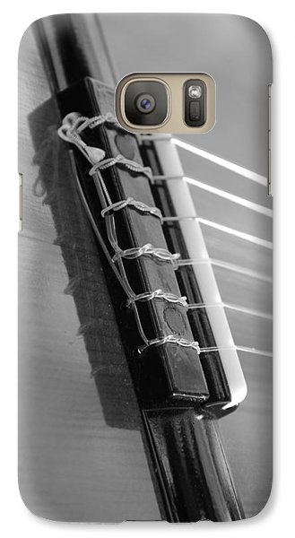 Galaxy Case featuring the photograph 6 String Bw by Elizabeth Sullivan