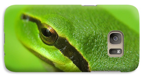 Galaxy Case featuring the photograph Tree Frog Portrait by Odon Czintos