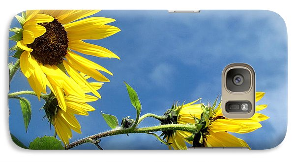 Galaxy Case featuring the photograph Sunflowers by France Laliberte