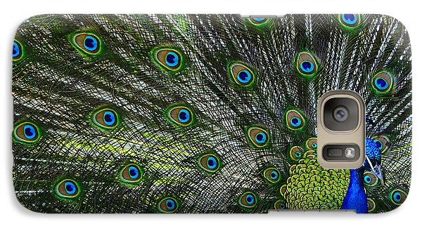 Galaxy Case featuring the photograph Peacock by Brian Stevens