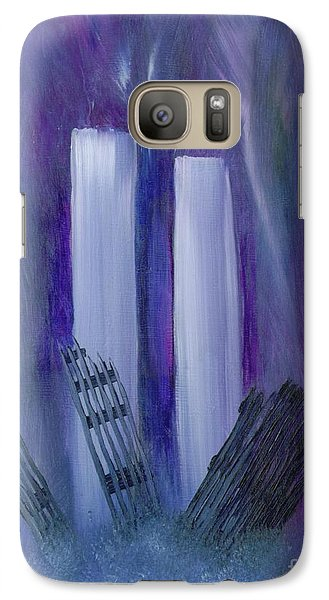 Galaxy Case featuring the painting 9-11 Remembering by Judy Filarecki
