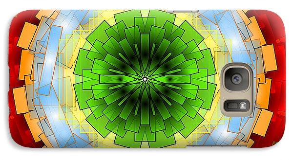 Galaxy Case featuring the digital art A Blast Of Fireworks by Mario Carini