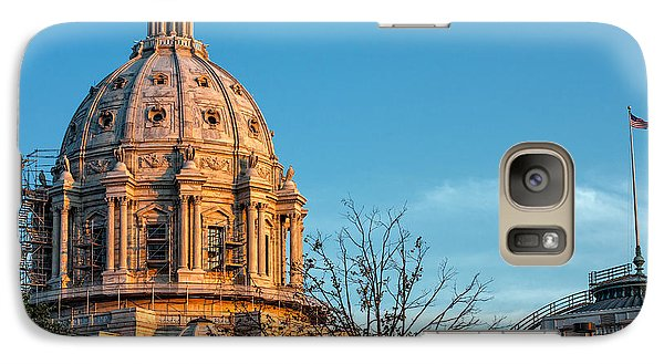 Galaxy Case featuring the photograph A Capitol Evening by Tom Gort