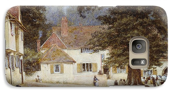 A Cart By A Village Inn Galaxy S7 Case by Helen Allingham