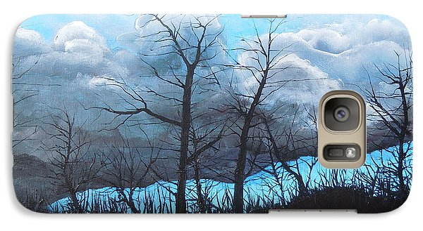 Galaxy Case featuring the painting A Cloudy Day by Dan Whittemore