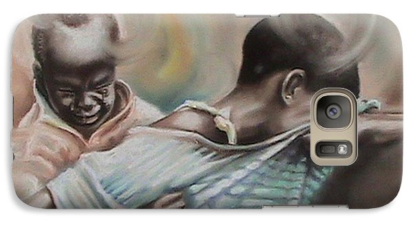 Galaxy Case featuring the painting A Day To Remember by Oyoroko Ken ochuko