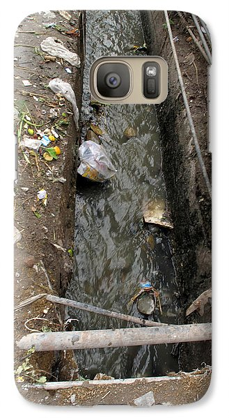 Galaxy Case featuring the photograph A Dirty Drain With Filth All Around It Representing A Health Risk by Ashish Agarwal