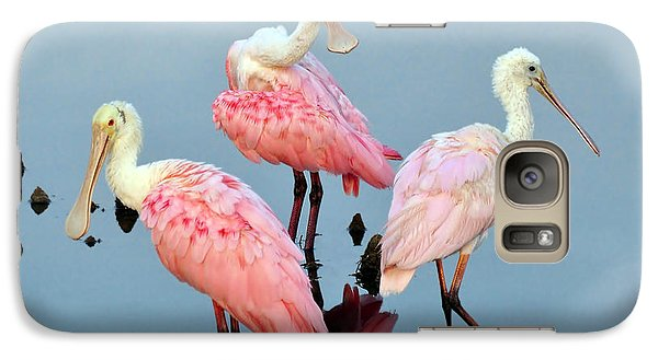 Galaxy Case featuring the photograph A Family Gathering by Kathy Baccari