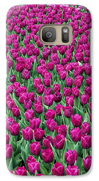 Galaxy Case featuring the photograph A Field Of Tulips by Eva Kaufman
