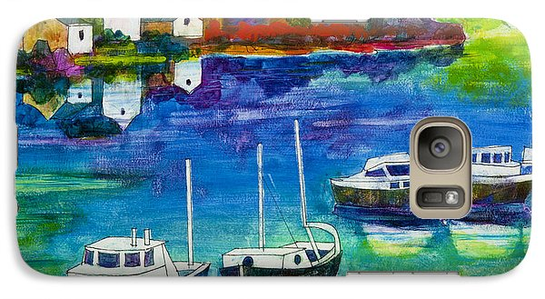Galaxy Case featuring the painting A Fishing Village by Yolanda Koh