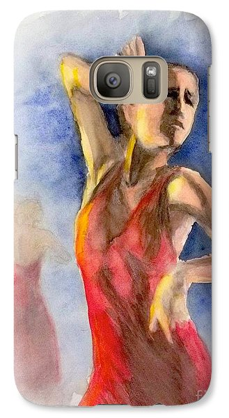 Galaxy Case featuring the painting A Flamenco Dancer  2 by Yoshiko Mishina