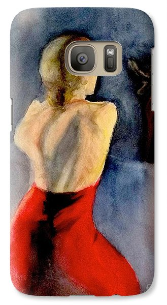 Galaxy Case featuring the painting A Flamenco Dancer  3 by Yoshiko Mishina