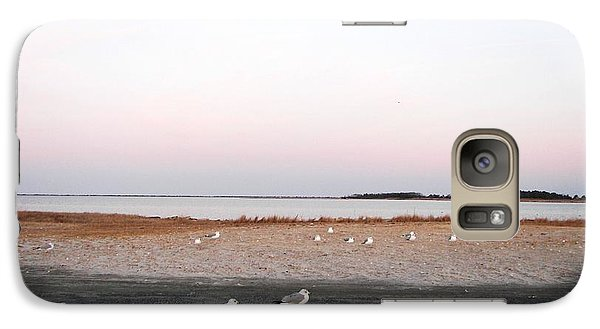 Galaxy Case featuring the photograph A Gathering On Rehoboth Bay by Pamela Hyde Wilson