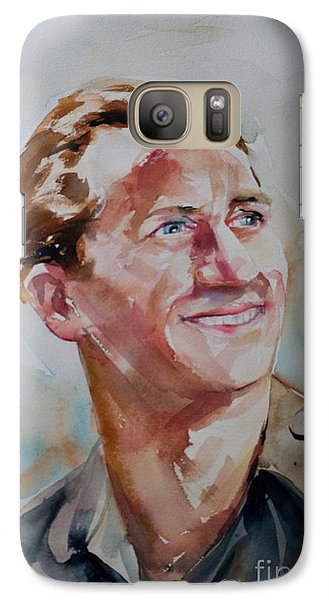 Galaxy Case featuring the painting A Great Man by Barbara McMahon