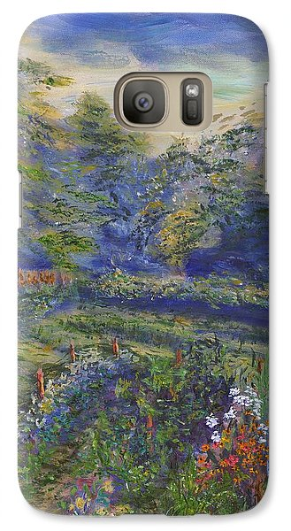Galaxy Case featuring the painting A Holiday In August Outside A Bed And Breakfast by Denny Morreale