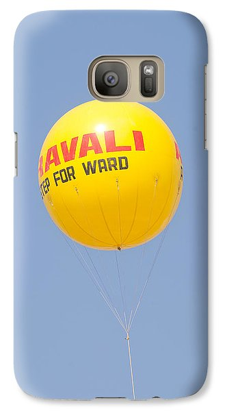 Galaxy Case featuring the photograph A Hot Air Balloon In The Blue Sky by Ashish Agarwal