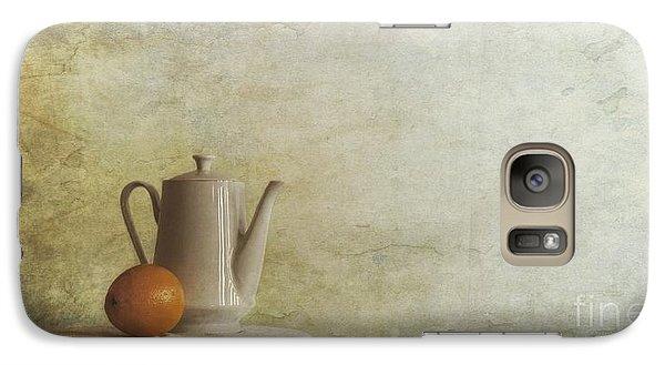 Still Life Galaxy S7 Case - A Jugful Tea And A Orange by Priska Wettstein