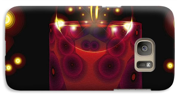 Galaxy Case featuring the digital art A Lighted Fractal Candle by Mario Carini