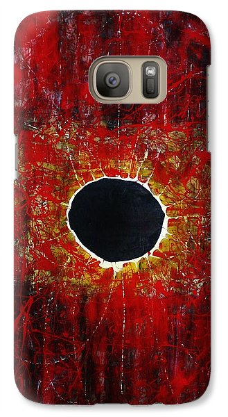 Galaxy Case featuring the painting A Long Time Coming by Michael Cross