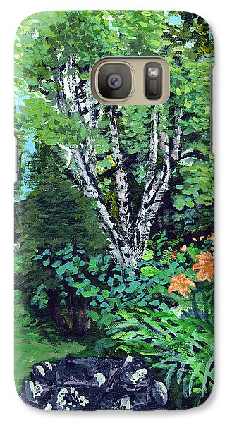 Galaxy Case featuring the painting A Nice Place To Take A Bath by Denny Morreale