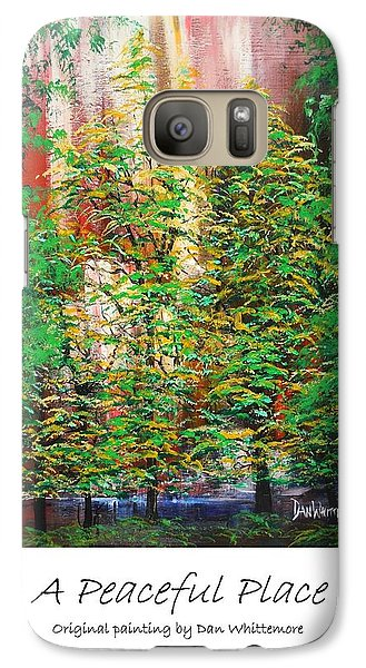 Galaxy Case featuring the painting A Peaceful Place Poster by Dan Whittemore