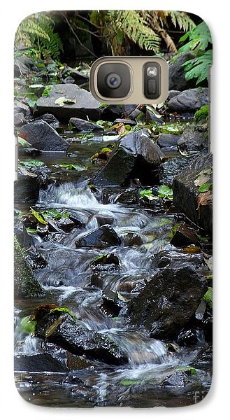 Galaxy Case featuring the photograph A Peaceful Stream by Chalet Roome-Rigdon