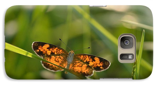 Galaxy Case featuring the photograph A Pearl In The Grass by JD Grimes